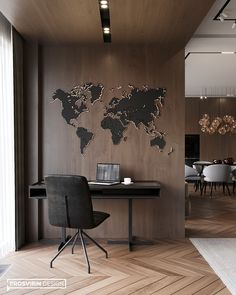 Office Wall Design, Study Room Design, Study Room Decor, Modern Office Design, Contemporary Office, Office Interior Design, Office Interiors, Modern House Design, Office Designs