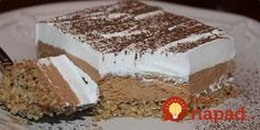 Jako fin i kremast kolac sa orasima i kokosom…Male domacice… Sweet Desserts, No Bake Desserts, Sweet Recipes, Delicious Desserts, Cake Recipes, Bosnian Recipes, Croatian Recipes, Posne Torte, Kolaci I Torte