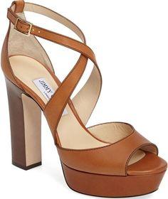 dfcab6d1d4c Jimmy Choo  April  Crisscross 120mm Sandals Womens Shoes Wedges