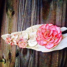 Rose on a Driftwood Sign Valentine's Day by BuyAFairytale on Etsy