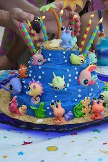 Under the sea littlest pet shop cake