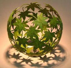 Blätter Ballon Windlicht