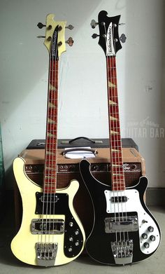 Black White Rickenbackers what can i say lemmy rick james paul mccartney