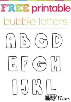 Are you looking for a crafting project that won't result in a big mess? Whether you're searching for an activity to occupy little hands (and educate little minds) or get your own creative juices flowing, these printable bubble letters are for you! They have a myriad of purposes including scrapbooking, coloring, flashcards, crafts and more. You are limited only by your creativity!