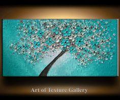 SALE 48 x 24 Big Oil Impasto Painting Original by artoftexture, $234.99