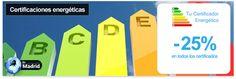 Certificados energéticos para locales, oficinas y viviendas en la zona de Madrid con Tu Certificador Energético - descuento 25%