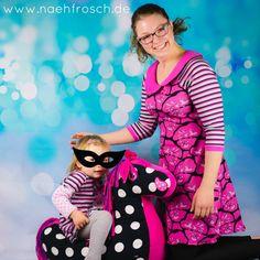 Nähfrosch nähen Toni Kleid mit Bubikragen Schnittmuster von Milchmonster Erdlöwe Stoff von Astrokatze