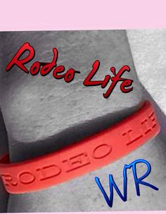 Red Rodeo Life Wristband