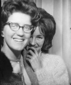 ** Vintage Photo Booth Picture **   Mom and her shy daughter Ruth.  Just love this one too.