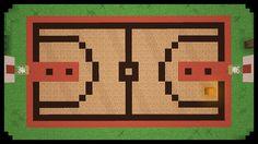 Minecraft: How to make a basketball court Minecraft Building Blueprints, Easy Minecraft Houses, Minecraft City, Minecraft Plans, Minecraft House Designs, Minecraft Decorations, Minecraft Construction, Minecraft Tutorial, Minecraft Pixel Art