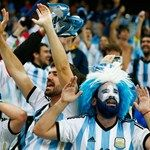 Argentina fans celebrate after defeating the Netherlands in a penalty shootout during the 2014 FIFA World Cup Brazil Semi Final match between the Netherlands and Argentina at Arena de Sao Paulo on July 9, 2014 in Sao Paulo,
