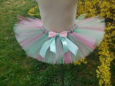Spring - mint - light pink - pink - baby girl – girl tutu – wedding – birthday – christianing – pageant