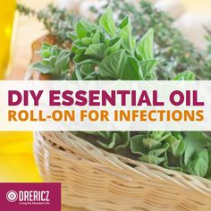This blend of essential oils for infections is sure to become a favorite. The handy roll-on applicator recipe is an easy DIY.