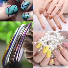 [Visit to Buy] FWC Retail 1mm Nail Striping Tape Line For Nails Decorations Diy Nail Art Self-Adhesive Decal Tools, 11 Colors For Choose #Advertisement
