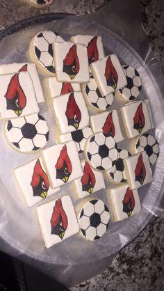 LHS cardinal soccer cookies