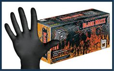 Black Latex Powder Free Exam Gloves with a Textured Surface. The Black Maxx glove is black in color; provides a framing effect for better c. Ink Stains, Latex Gloves, Free Black, Body Piercing, Tattoo Studio, Safety, Instruments, Powder