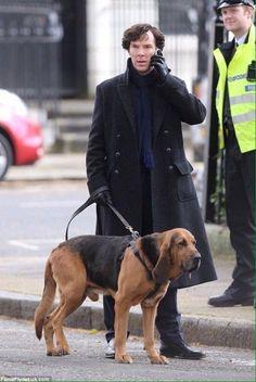 SHERLOCK (BBC) ~ Benedict Cumberbatch (Sherlock Holmes) during Season 4 filming on April 26, 2016.
