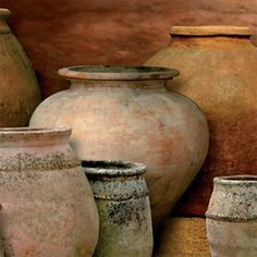 Terracotta brings natural warmth and texture Ceramic Pots, Ceramic Pottery, Pottery Art, Garden Urns, Pottery Sculpture, Pastel Art, Pottery Painting, Cool Posters, Wabi Sabi
