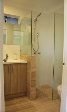 Renovating our (really small) bathroom | House Nerd a HOB for the shower instead of a frameless shower