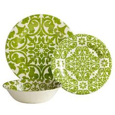 Pier 1 Imports - Trellis Dinnerware - fun and pretty.  Wonder if they have it in blue