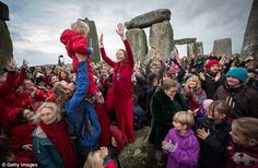 Place of myth and celebration: Crowds gather at Stonehenge every year to mark the annual summer solstice