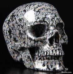 Snowflake Obsidian Crystal Skull OMG I wonder what the dimensions of this are???????
