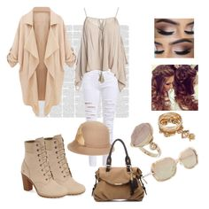 """""""Untitled #107"""" by shirleyarrington on Polyvore featuring Timberland, Sans Souci, Betmar, Burberry and Topshop"""