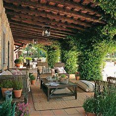 Mediterranean style// outside living room -- sjc///