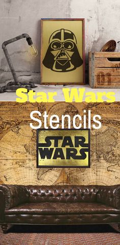 Star Wars Metal Stencil - Star Wars Decoration #starwars #stencils #art