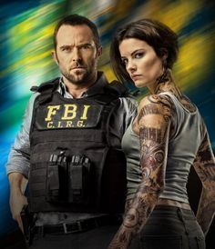 Still of Sullivan Stapleton and Jaimie Alexander in Blindspot (2015)