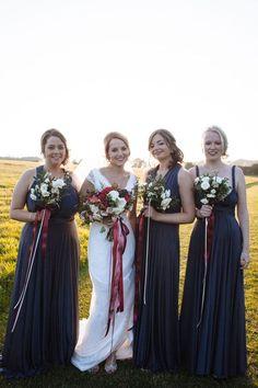 Lovely Brides Abi in the 'Natalia' Gown | Fit & Flare | Wedding Dress | Bridesmaid's | Floral | Pretty | Amanda Wyatt