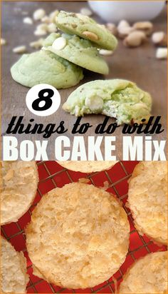 Things to do with Box Cake Mix.  8 Unexpected ways to bake using box cake mix.