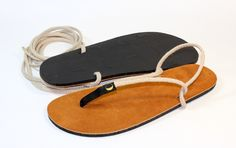 Luna leather and rope sandal