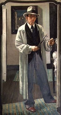 The Artist in his Studio by James Miller (1893-1987) The man in the mirror...