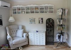 Scraproom: More photos of my scraphouse Craft Room Organisation, Craft Room Storage, Storage Spaces, Craft Rooms, Storage Ideas, Scrapbook Storage, Scrapbook Rooms, Scrapbooking, Art Studio Storage