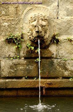 Small Lions Head Water Fountain - Tuscany Italy