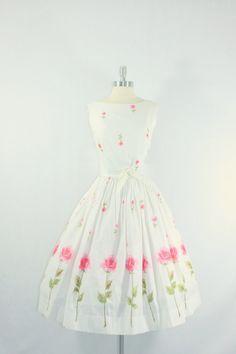 1950's Vintage Tulip Garden Party Dress