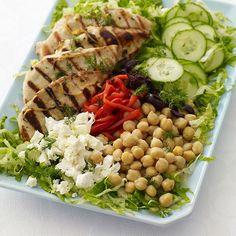 Greek Lemon-Dill Grilled chicken salad - 8 points+