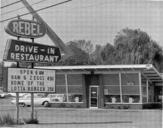 East Ridge, Tennessee. Rebel Drive-In.