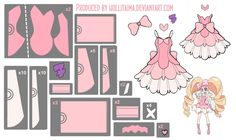 pattern draft for nui's outfit from kill la kill
