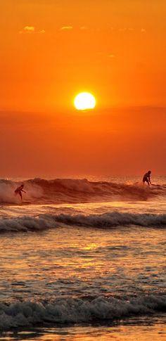 Sunset surfers at Jaco Beach ~ Costa Rica