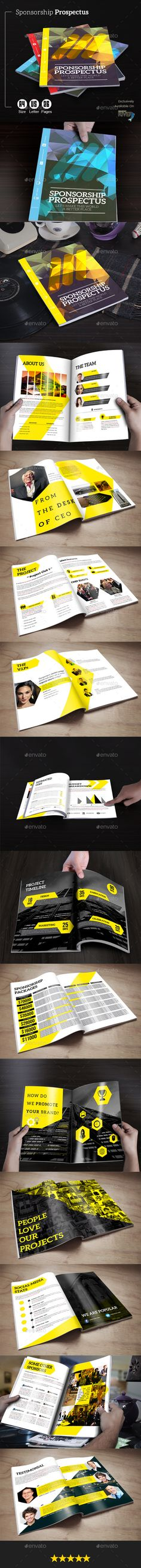 Sponsorship Prospectus Template #design Download: http://graphicriver.net/item/sponsorship-prospectus/12161993?ref=ksioks