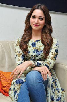 """celebstills: Tamannaah Bhatia At """"Baahubali"""" Promotional Interview In Hyderabad"""