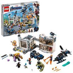 LEGO 76131 Marvel Avengers Compound Battle Superhero Playset, Thanos and Hulk Figures, Iron Man, Captain Marvel and Nebula Minifigures Lego Marvel's Avengers, Lego Marvel Super Heroes, Lego Batman, Lego Disney, Disney Toys, Captain Marvel, Films Marvel, Marvel Avengers Movies, Hulk