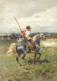 The Zaporozhye knight. Artist Josef Brandt / Запорожский рыцарь. Художник Йозеф Брандт.
