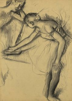 Above: Two Dancers Resting Drawing Edgar Degas Large...