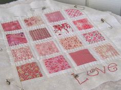 WIP Hand Quilted Doll Quilt by WendysKnitch, via Flickr
