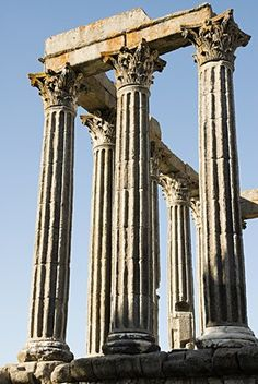 Temple of diana in Evora,Portugal. On the Western edge of the Empire Ancient Ruins, Ancient Rome, Ancient Greece, Ancient History, Beautiful Ruins, The Beautiful Country, Beautiful Places To Visit, Architecture Antique, Classical Architecture