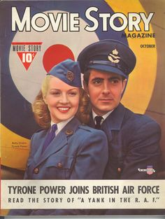 Betty Grable & Tyrone Power-Movie Story magazine-Oct 1941
