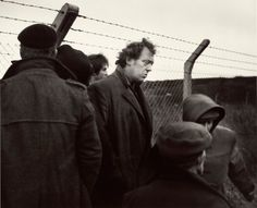 """Chris Killip Brian at the Disputed Fence, Lynemouth, Northumberland, 1982"""